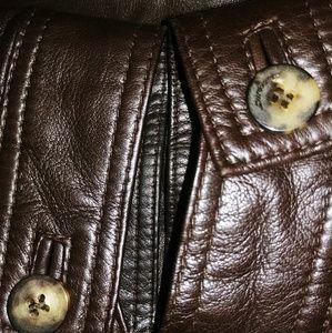 Salvatore Ferragamo Jackets & Coats - Salvatore Ferragamo Leather Collared Jacket